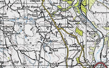 Old map of Redmoor in 1946