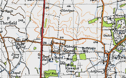 Old map of Reed in 1946