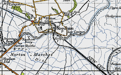 Old map of Reedham in 1946