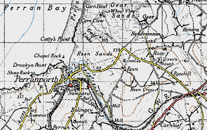 Old map of Reen Manor in 1946