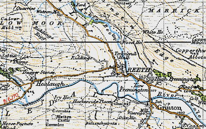 Old map of Swaledale in 1947