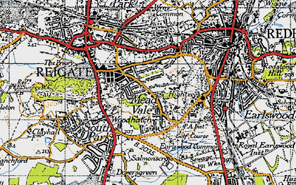Old map of Reigate in 1940