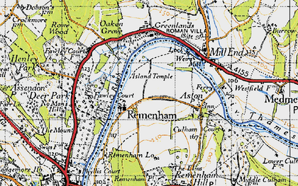Old map of Remenham in 1947