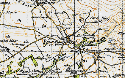 Old map of Lincowell in 1947