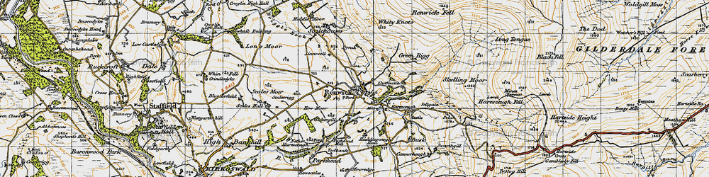 Old map of Renwick in 1947