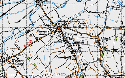 Old map of Repton in 1946