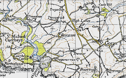 Old map of Rescassa in 1946