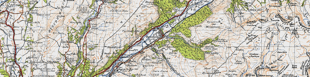 Old map of Resolven in 1947