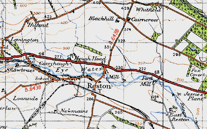 Old map of Whitfield in 1947