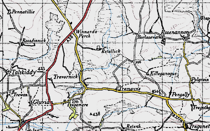 Old map of Retallack in 1946
