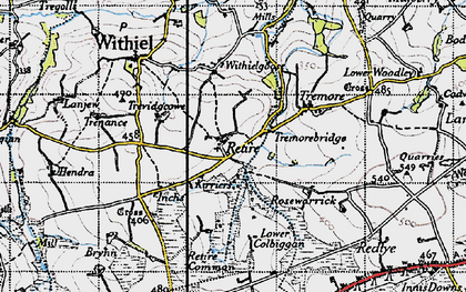Old map of Retire in 1946