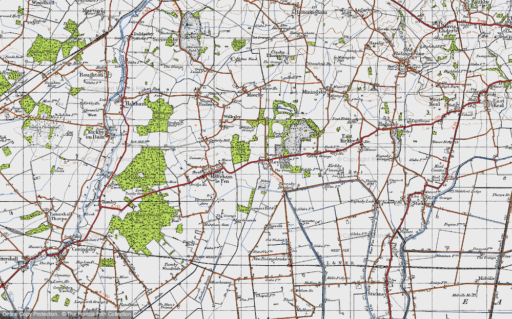 Old Map of Revesby, 1946 in 1946