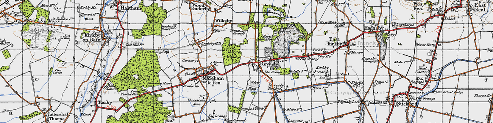 Old map of Revesby in 1946
