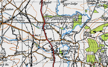 Old map of Reybridge in 1940