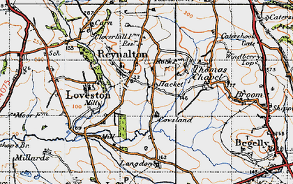 Old map of Langdon in 1946
