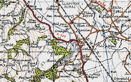 Old map of Bachymbyd Fawr in 1947