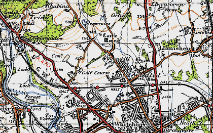 Old map of Rhiwbina in 1947