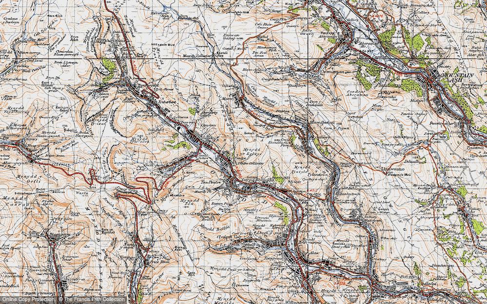 Old Map of Rhondda, 1947 in 1947