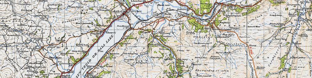 Old map of Y Graig in 1947