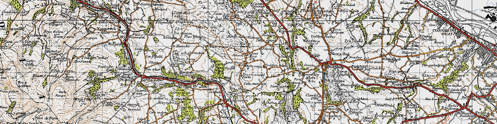 Old map of Rhosesmor in 1947