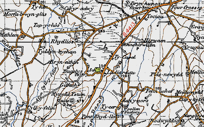 Old map of Afon Daron in 1947