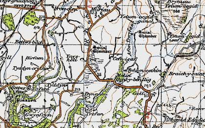 Old map of Afon Dwyfor in 1947