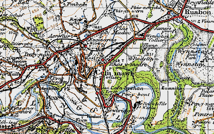 Old map of Rhosymedre in 1947