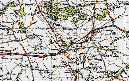Old map of Rhuallt in 1947