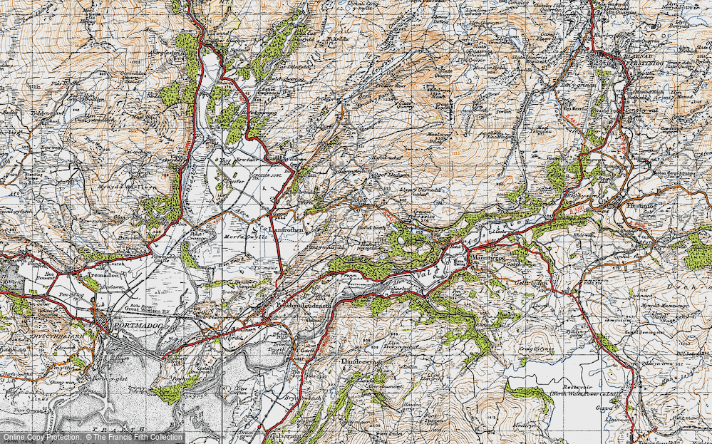Old Map of Rhyd, 1947 in 1947