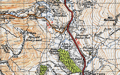 Old map of Y Garn in 1947