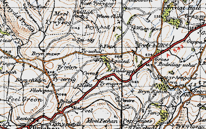 Old map of Fron in 1947