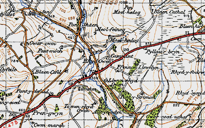Old map of Alltyrodyn in 1947