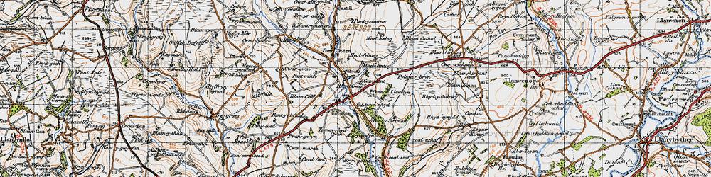 Old map of Alltyrodyn in 1947