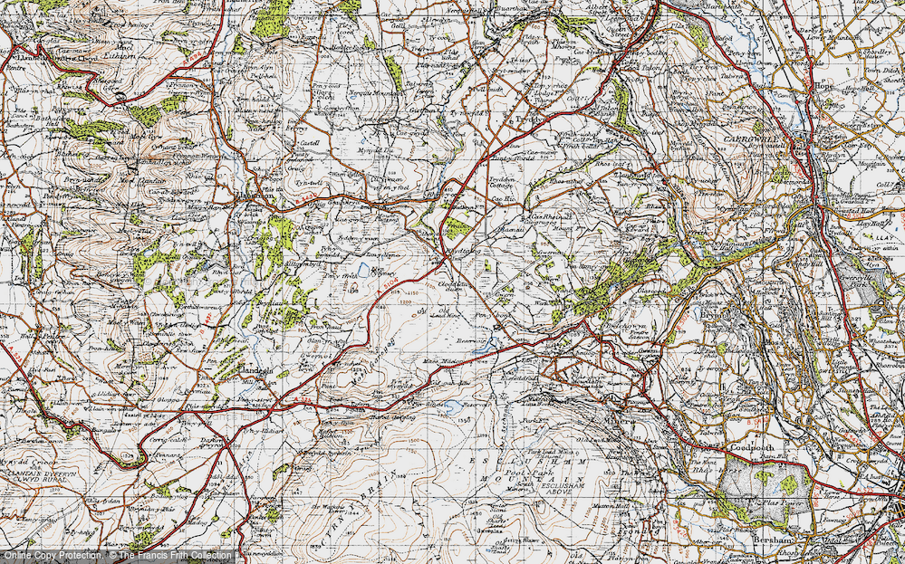 Old Map of Historic Map covering Aber Tairnant in 1947