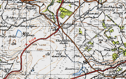 Old map of Aber Tairnant in 1947
