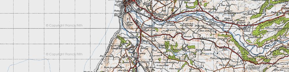 Old map of Rhydyfelin in 1947