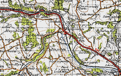 Old map of Rhydymwyn in 1947