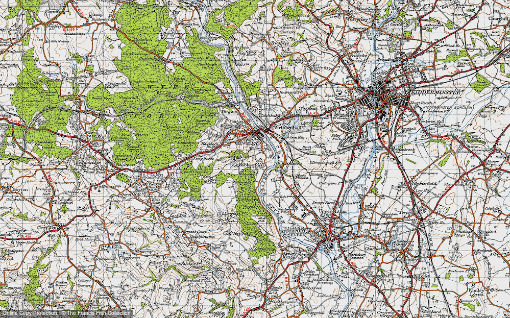 Old Map of Ribbesford, 1947 in 1947