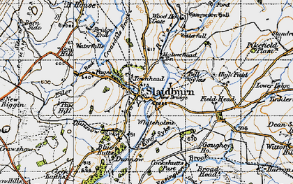 Old map of Ribble Valley in 1947