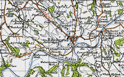 Old map of Leece's Wood in 1947