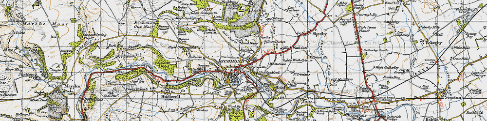 Old map of Richmond in 1947