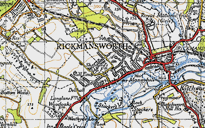 Old map of Rickmansworth in 1946