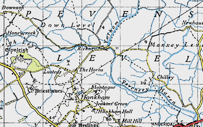 Old map of Yotham in 1940