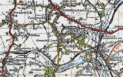 Old map of Riddings in 1946