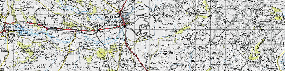 Old map of Ridge in 1940