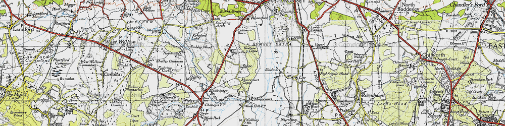 Old map of Yewtree Copse in 1945