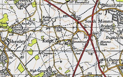 Old map of Ridge in 1946