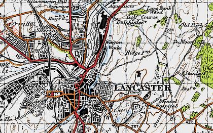 Old map of Ashton Meml in 1947