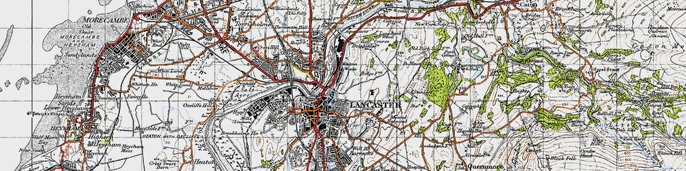 Old map of Williamson Park in 1947