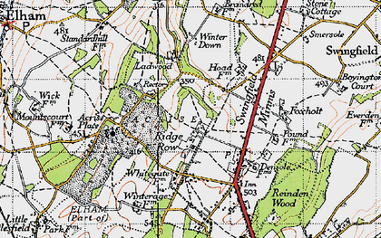 Old map of Acrise Place in 1947